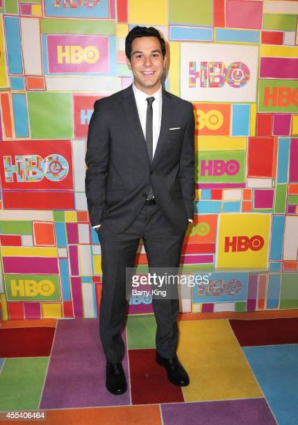 Actor Skylar Astin attends HBO's 2014 Emmy after party at The Plaza at the Pacific Design Center on August 25 2014 in Los Angeles California