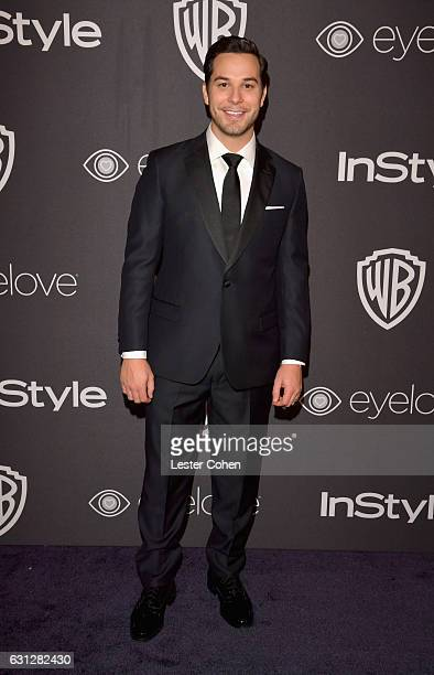 Actor Skylar Astin attends the 18th Annual PostGolden Globes Party hosted by Warner Bros Pictures and InStyle at The Beverly Hilton Hotel on January...