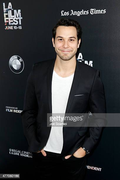 Actor Skylar Astin attends the 'Flock of Dudes' screening during the 2015 Los Angeles Film Festival at Regal Cinemas LA Live on June 13 2015 in Los...