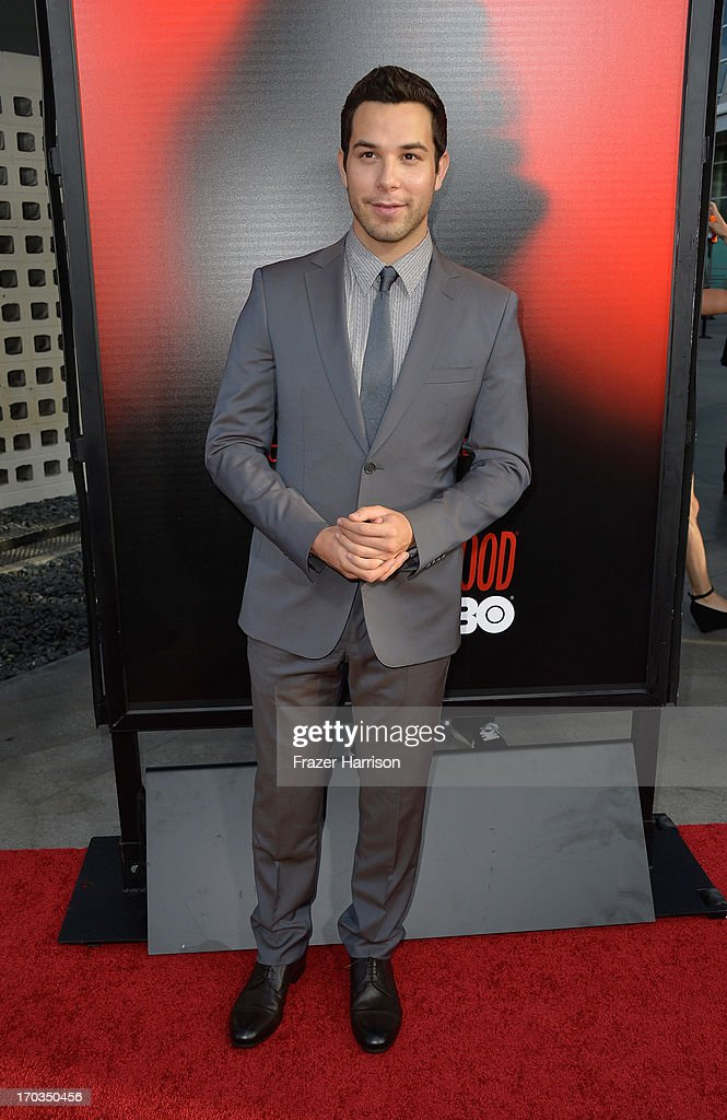 Actor Skylar Astin attends the premiere of HBO's 'True Blood' Season 6 at ArcLight Cinemas Cinerama Dome on June 11, 2013 in Hollywood, California.