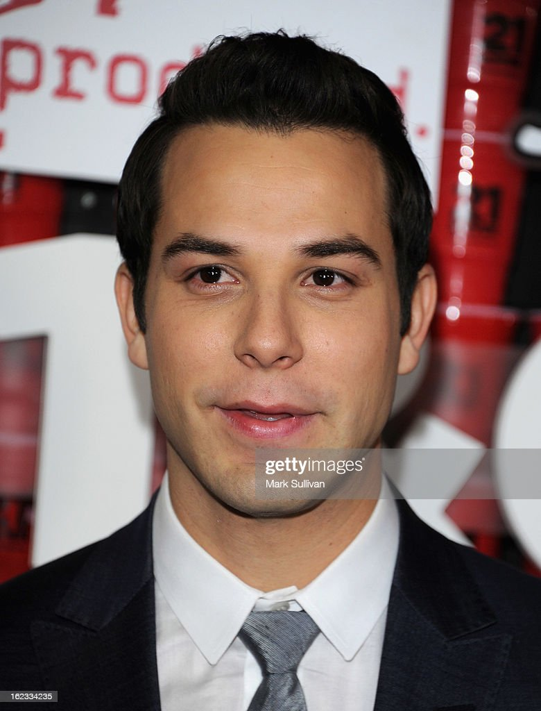 Actor <a gi-track='captionPersonalityLinkClicked' href=/galleries/search?phrase=Skylar+Astin&family=editorial&specificpeople=4463360 ng-click='$event.stopPropagation()'>Skylar Astin</a> attends the premiere of Relativity Media's '21 And Over' at Westwood Village on February 21, 2013 in Los Angeles, California.