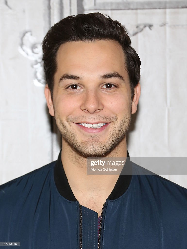 Brittany Snow And Skylar Astin With Writer Kay Cannon Visit AOL Build