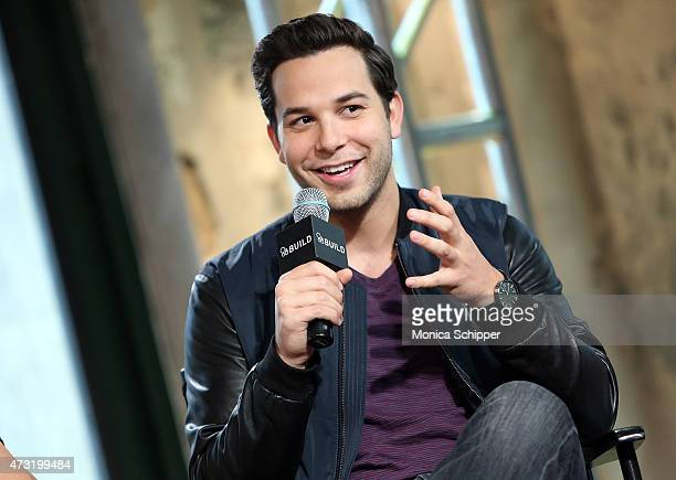 Actor Skylar Astin visits AOL Build at AOL Studios In New York on May 13 2015 in New York City