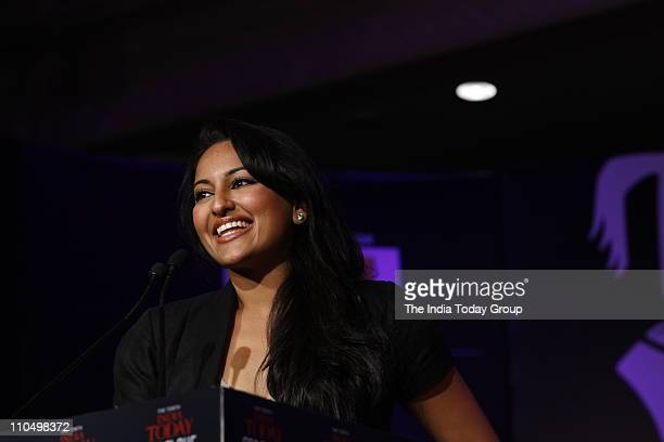 Actor Sonakshi Sinha during the session 'Ideas My India Our future' at the 10th India Today Conclave in Delhi on Saturday March 19 2011