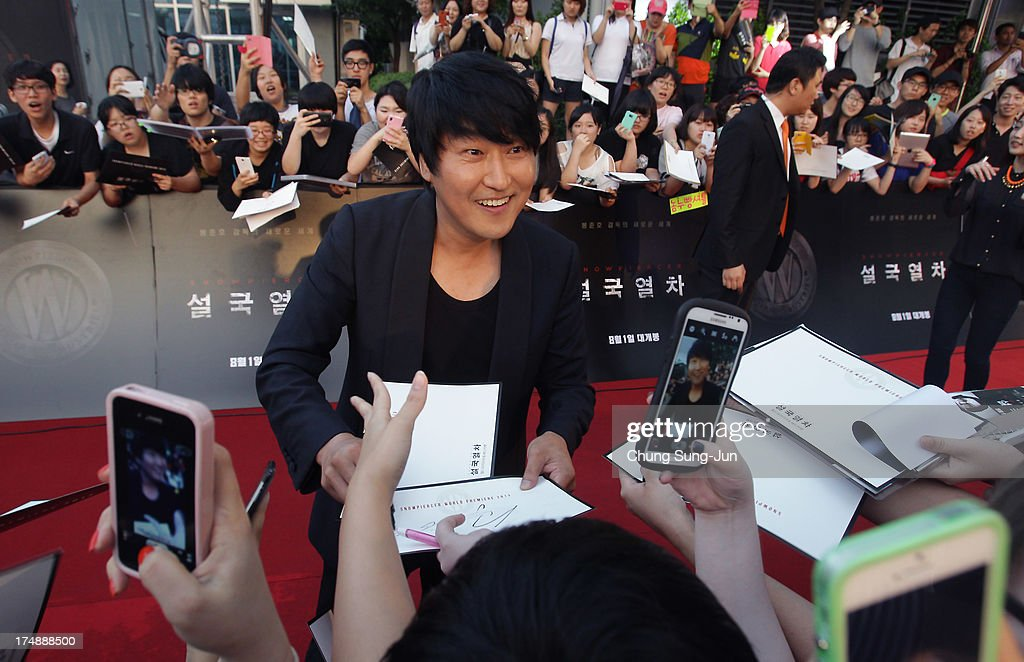 Actor Song Kang-Ho attends the 'Snowpiercer' South Korea premiere at Times Square on July 29, 2013 in Seoul, South Korea. The film will open in South Korea on August 1.