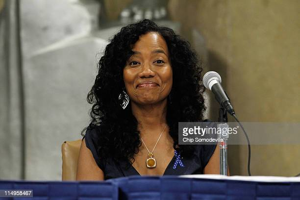 Actor Sonja Sohn from the HBO series 'The Wire' participates in a panel discussion during a Federal Interagency Drug Endangered Children Task Force...