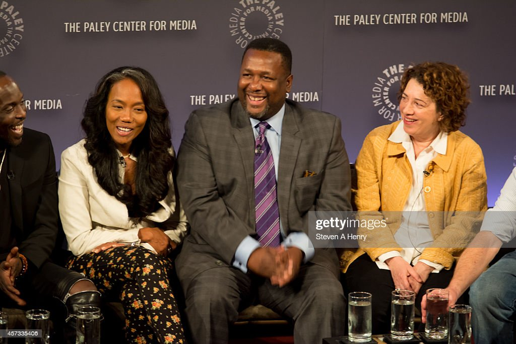 Actor Sonja Sohn Wendell Pierce and producer Nina Noble at Paley Center For Media on October 16 2014 in New York New York