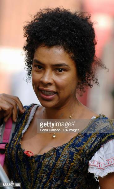 Actor Sophie Okonedo on set after filming scenes in her role as Nancy for BBC production of Oliver Twist scheduled for later this year at London's...