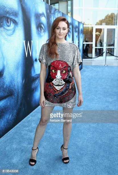 Actor Sophie Turner attends the premiere of HBO's 'Game Of Thrones' season 7 at Walt Disney Concert Hall on July 12 2017 in Los Angeles California