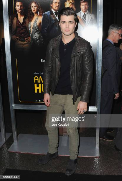 Actor Spencer Boldman arrives at the Los Angeles Premiere 'American Hustle' at Directors Guild Theatre on December 3 2013 in West Hollywood California