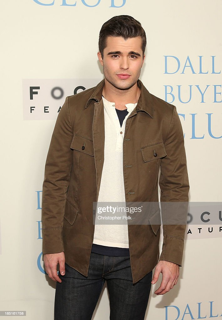 Actor Spencer Boldman attends Focus Features' 'Dallas Buyers Club' premiere at the Academy of Motion Picture Arts and Sciences on October 17, 2013 in Beverly Hills, California.