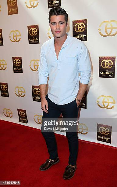 Actor Spencer Boldman attends the Celebrity Experience interactive event at the Hilton Los Angeles/Universal City on July 9 2014 in Universal City...