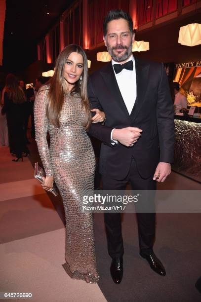 Actor sSofia Vergara and Joe Manganiello attend the 2017 Vanity Fair Oscar Party hosted by Graydon Carter at Wallis Annenberg Center for the...