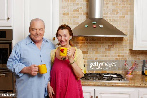Actor Stacy Keach and wife Malgosia Tomassi photographed at home on April 28 in Los Angeles California