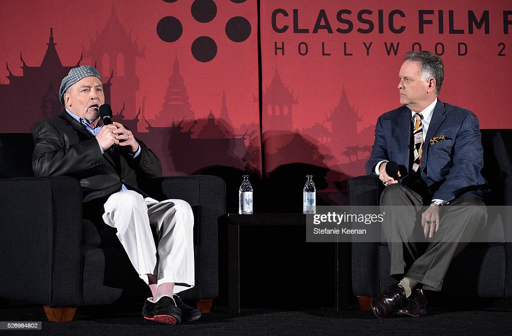 Actor Stacy Keach (L) and writer Eddie Muller speak onstage at 'Fat City' screening during day 4 of the TCM Classic Film Festival 2016 on May 1, 2016 in Los Angeles, California. 25826_005
