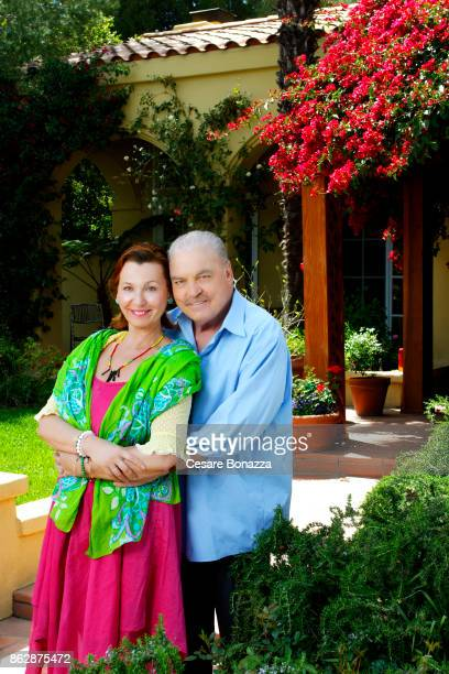 Actor Stacy Keach wife Malgosia Tomassi photographed at home on April 28 in Los Angeles California