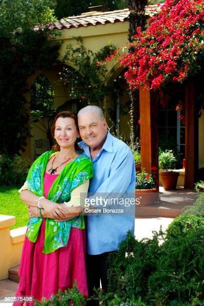 Actor Stacy Keach with wife Malgosia Tomassi photographed at home on April 28 in Los Angeles California