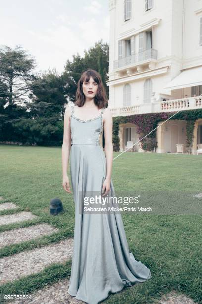 Actor Stacy Martin is photographed for Paris Match whilst attending the Amfar Gala at the Eden Roc Hotel on May 25 2017 in Antibes France