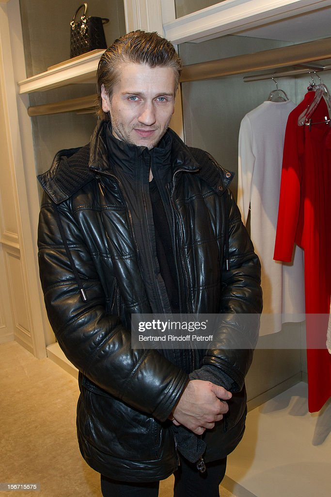 Actor Stanislas Merhar attends the signing of Francis Huster's book 'And Dior Created Woman' at Dior Boutique on November 19, 2012 in Paris, France.