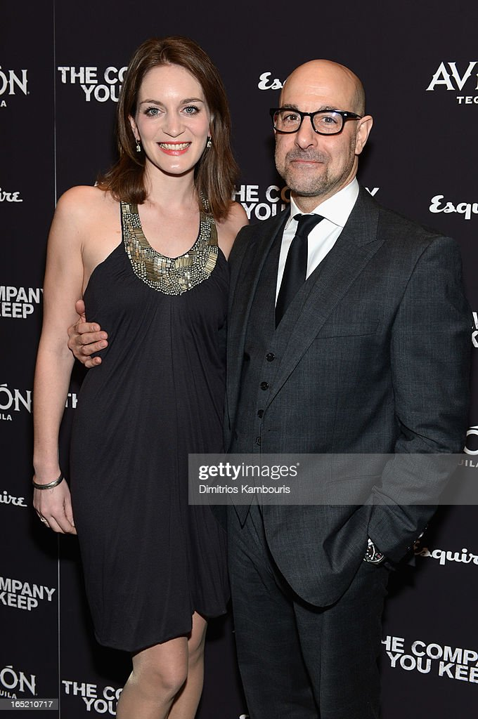 Actor <a gi-track='captionPersonalityLinkClicked' href=/galleries/search?phrase=Stanley+Tucci&family=editorial&specificpeople=209366 ng-click='$event.stopPropagation()'>Stanley Tucci</a> (R) and <a gi-track='captionPersonalityLinkClicked' href=/galleries/search?phrase=Felicity+Blunt&family=editorial&specificpeople=2352501 ng-click='$event.stopPropagation()'>Felicity Blunt</a> attends 'The Company You Keep' New York Premiere at MOMA on April 1, 2013 in New York City.