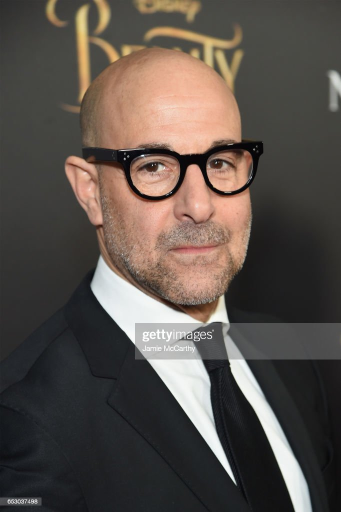 Actor Stanley Tucci arrives at the New York special screening of Disney's live-action adaptation 'Beauty and the Beast' at Alice Tully Hall on March 13, 2017 in New York City.