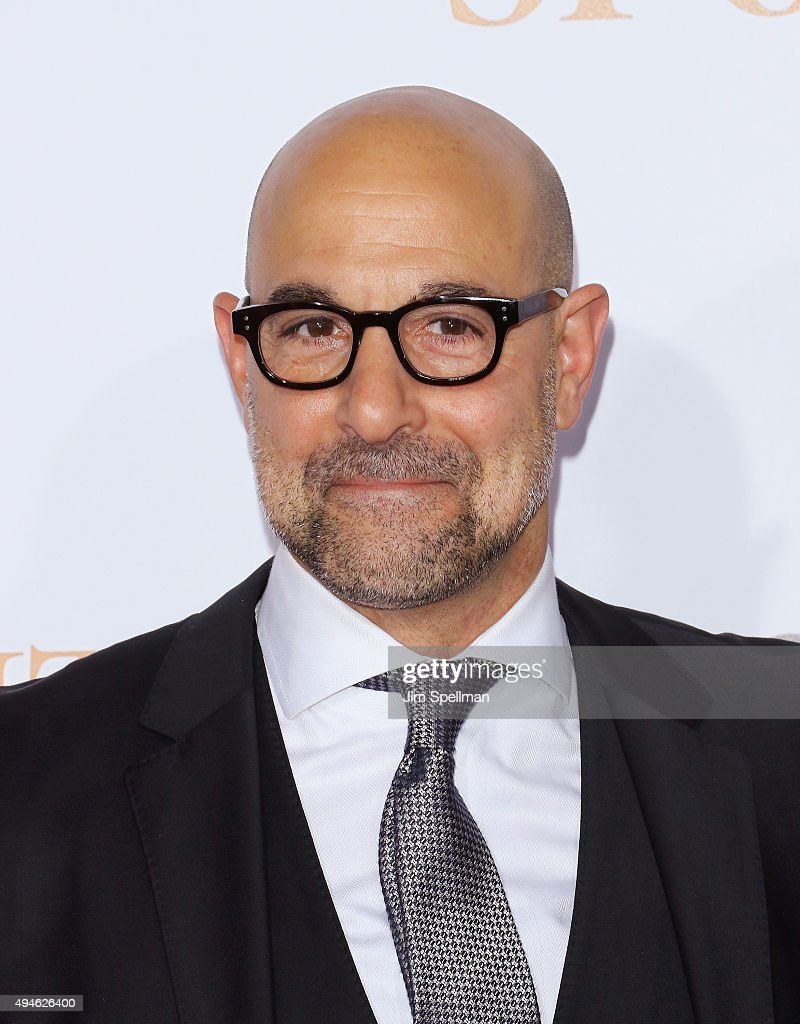 Actor Stanley Tucci attends the 'Spotlight' New York premiere at Ziegfeld Theater on October 27, 2015 in New York City.