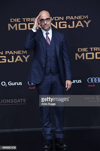 Actor Stanley Tucci attends the world premiere of the film 'The Hunger Games Mockingjay Part 2' at CineStar on November 4 2015 in Berlin Germany