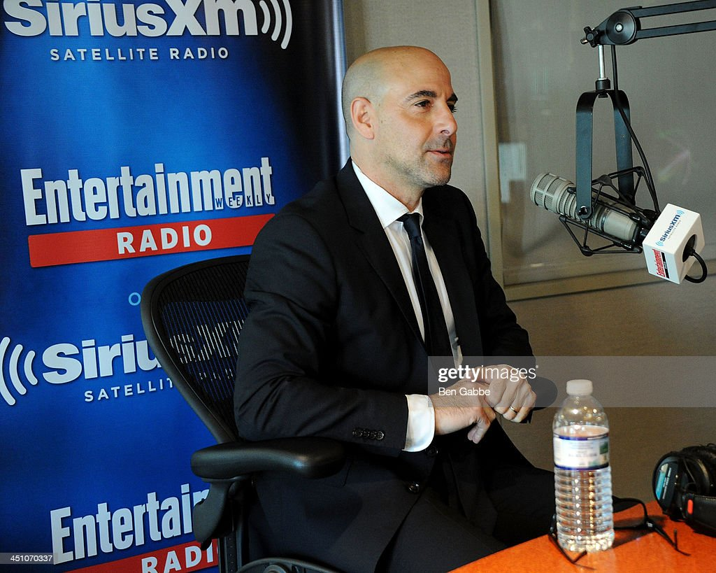 Actor <a gi-track='captionPersonalityLinkClicked' href=/galleries/search?phrase=Stanley+Tucci&family=editorial&specificpeople=209366 ng-click='$event.stopPropagation()'>Stanley Tucci</a> visits SiriusXM Studios on November 21, 2013 in New York City.