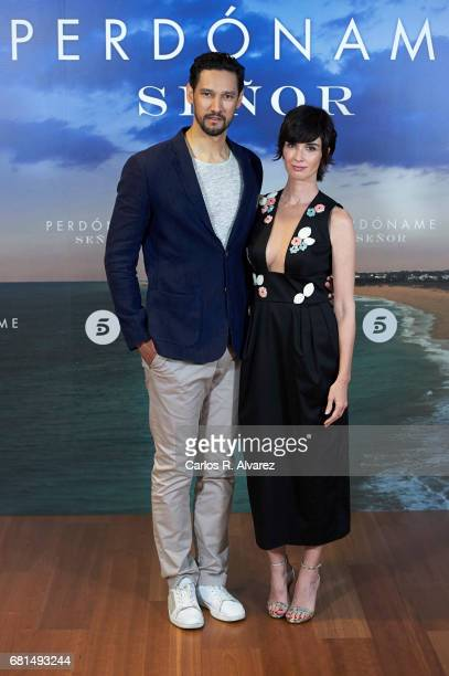 Actor Stany Coppet and actress Paz Vega attend the 'Perdoname Senor' photocall at Mediaset Studios on May 10 2017 in Madrid Spain