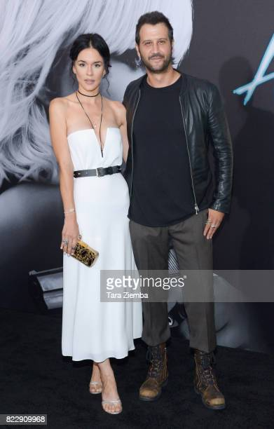 Actor Stefan Kapicic and guest attend Focus Features' 'Atomic Blonde' at The Theatre at Ace Hotel on July 24 2017 in Los Angeles California