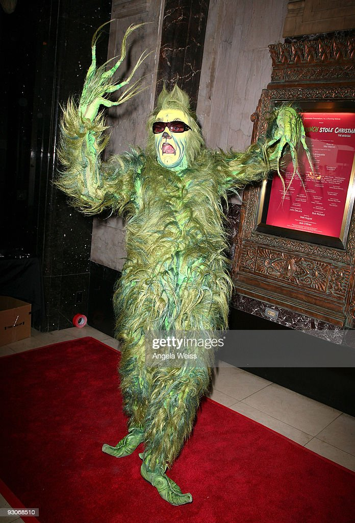 Actor Stefan Karl arrives as the 'Grinch' to the Los Angeles premiere of Dr. Seuss' 'How The Grinch Stole Christmas' at the Pantages Theatre on November 14, 2009 in Los Angeles, California.