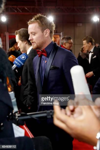 Actor Stefan Konarske attends the 'The Young Karl Marx' premiere during the 67th Berlinale International Film Festival Berlin at FriedrichstadtPalast...