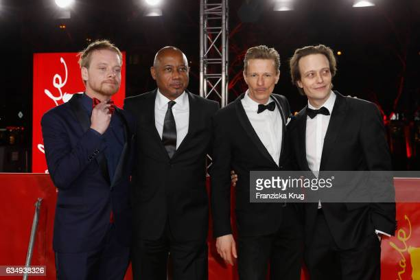 Actor Stefan Konarske film director and screenwriter Raoul Peck actor Alexander Scheer and actor August Diehl attend the 'The Young Karl Marx'...