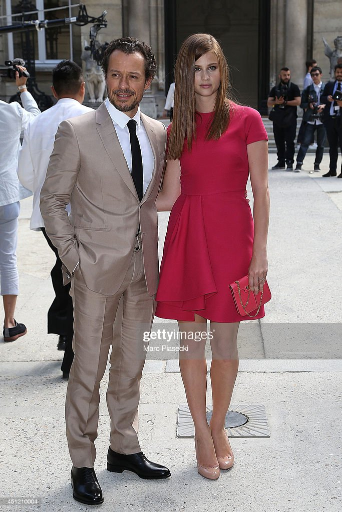 Actor Stefano Accorsi and Bianca Vitali arrive to attend the 'Valentino' Menswear Spring/Summer 2015 on June 25, 2014 in Paris, France.