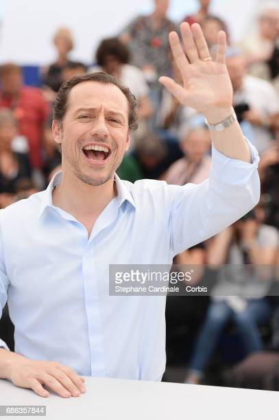 Actor Stefano Accorsi attends the 'Fortunata' photocall during the 70th annual Cannes Film Festival at Palais des Festivals on May 21 2017 in Cannes...