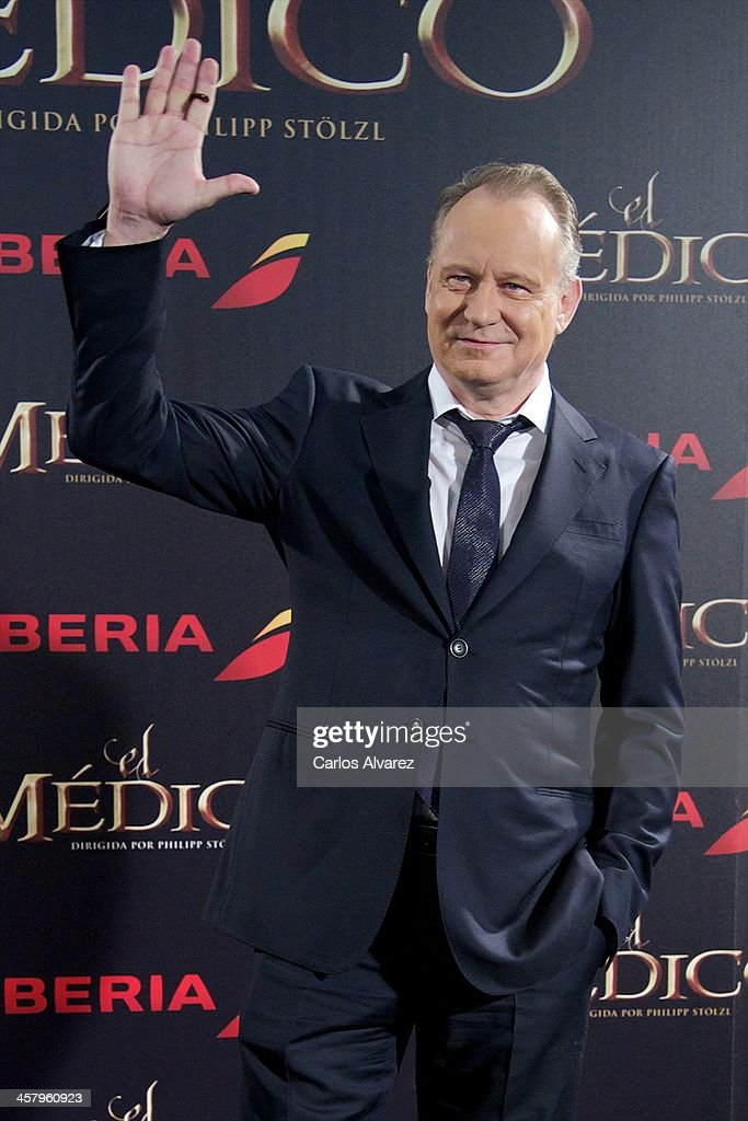 Actor <a gi-track='captionPersonalityLinkClicked' href=/galleries/search?phrase=Stellan+Skarsgard&family=editorial&specificpeople=233516 ng-click='$event.stopPropagation()'>Stellan Skarsgard</a> attends the 'The Physician' (El Medico) premiere at the Callao Cinema on December 19, 2013 in Madrid, Spain.