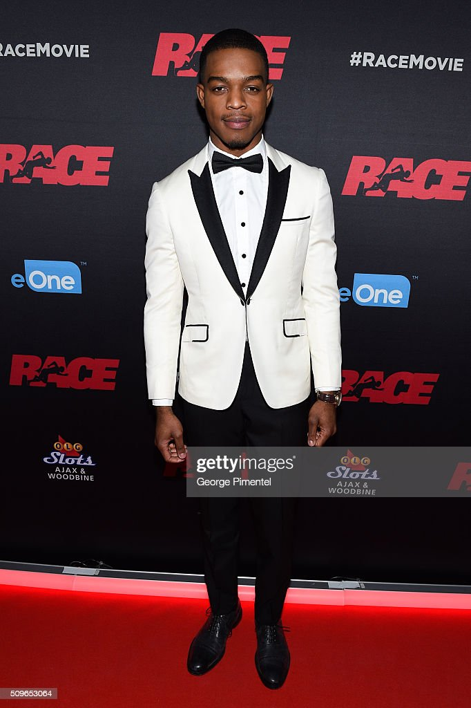 Actor Stephan James attends the Canadian Red Carpet Premiere of 'Race' at Scotiabank Theatre on February 11, 2016 in Toronto, Canada.