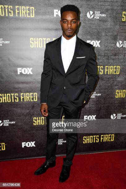 Actor Stephan James attends the screening of FOX's 'Shots Fired' at Pacific Design Center on March 16 2017 in West Hollywood California