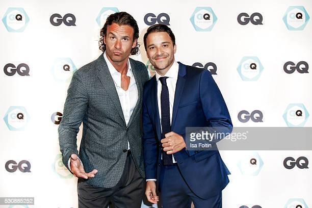 Actor Stephan Luca and Actor Kostja Ulmann GQ Care award winner as bestmaintained celebrity attend the GQ Care Award 2016 at The Grand on May 11 2016...