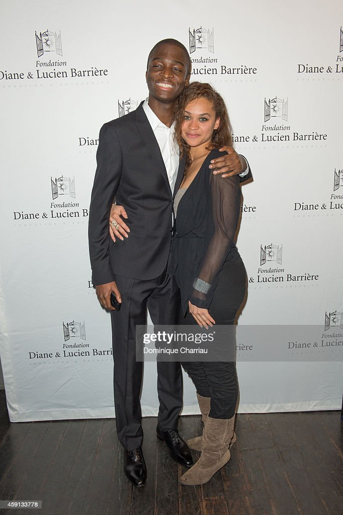 Actor Stephane Bak and actress Wendy Nieto attend 'Les Heritiers' Premiere Hosted by Fondation Diane & Lucien Barriere at Publicis Champs Elysees on November 17, 2014 in Paris, France.