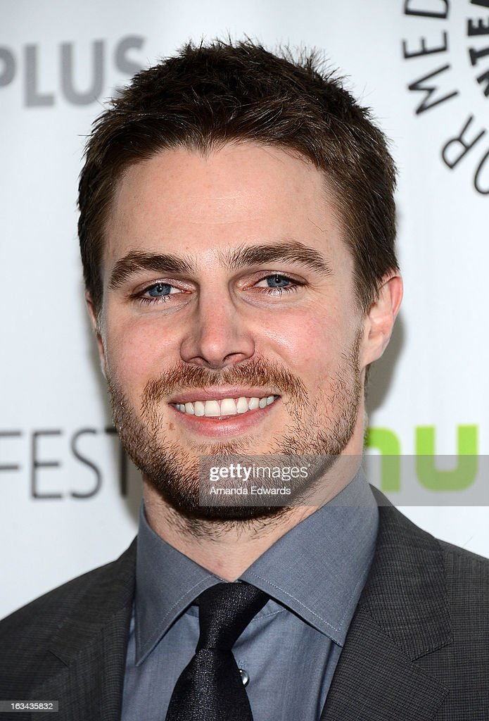 Actor <a gi-track='captionPersonalityLinkClicked' href=/galleries/search?phrase=Stephen+Amell&family=editorial&specificpeople=4500297 ng-click='$event.stopPropagation()'>Stephen Amell</a> arrives at the 30th Annual PaleyFest: The William S. Paley Television Festival featuring 'Arrow' at the Saban Theatre on March 9, 2013 in Beverly Hills, California.