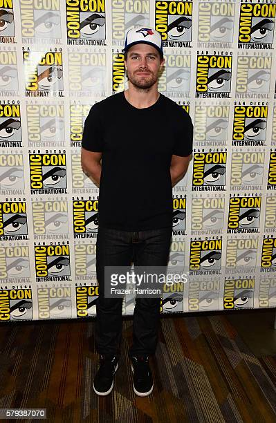 Actor Stephen Amell attends 'Arrow' Press Line during ComicCon International 2016 at Hilton Bayfront on July 23 2016 in San Diego California