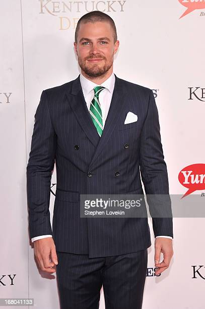 Actor Stephen Amell attends the 139th Kentucky Derby at Churchill Downs on May 4 2013 in Louisville Kentucky