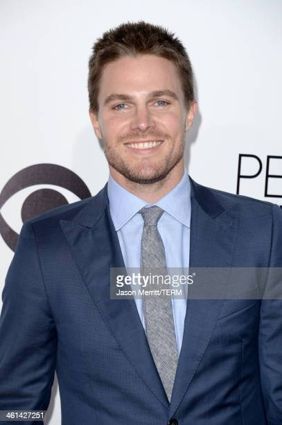 Actor Stephen Amell attends The 40th Annual People's Choice Awards at Nokia Theatre LA Live on January 8 2014 in Los Angeles California