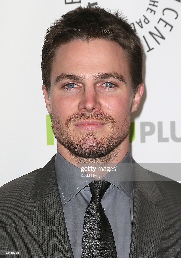 Actor <a gi-track='captionPersonalityLinkClicked' href=/galleries/search?phrase=Stephen+Amell&family=editorial&specificpeople=4500297 ng-click='$event.stopPropagation()'>Stephen Amell</a> attends The Paley Center For Media's PaleyFest 2013 honoring 'Arrow' at the Saban Theatre on March 9, 2013 in Beverly Hills, California.
