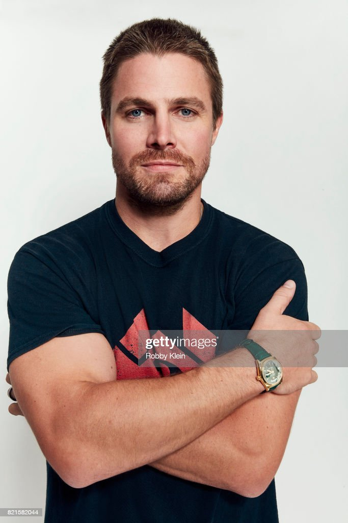 Actor Stephen Amell from CW's 'Arrow' poses for a portrait during Comic-Con 2017 at Hard Rock Hotel San Diego on July 22, 2017 in San Diego, California.