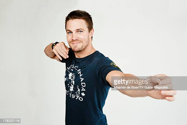 Actor Stephen Amell is photographed for TV Guide Magazine on July 20 2013 on the TV Guide Magazine Yacht in San Diego California PUBLISHED IMAGE...