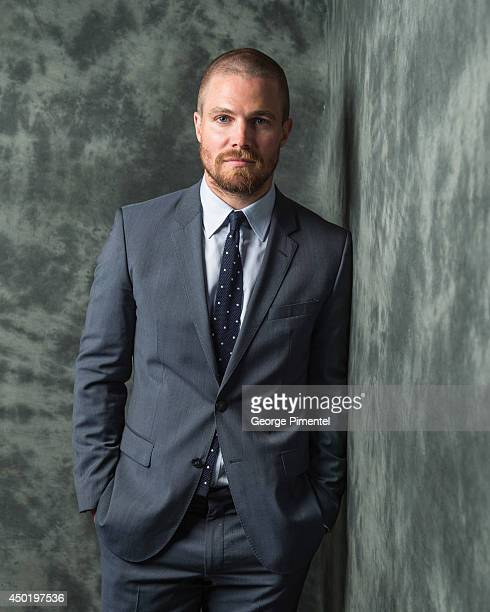 Actor Stephen Amell of Arrow poses for a portrait during CTV 2014 Upfront at Sony Centre for the Performing Arts on June 5 2014 in Toronto Canada