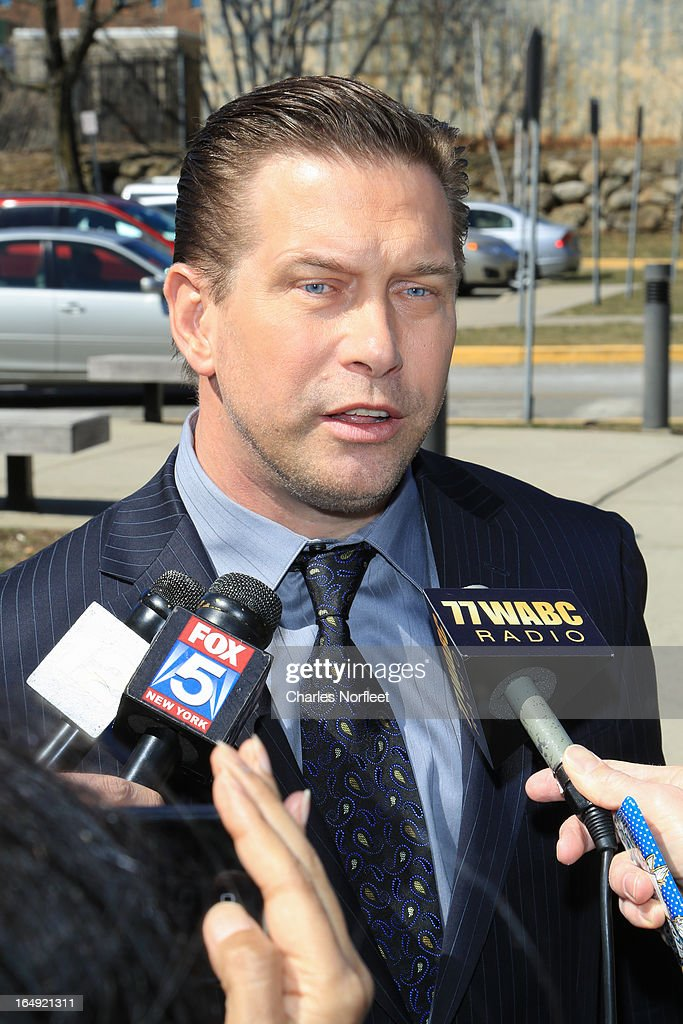 Actor Stephen Baldwin addresses the media after pleading guilty at Rockland County Courthouse on March 29, 2013 in New City, New York. Baldwin, a contestant on 'All-Star Celebrity Apprentice', was accused of failing to file income tax returns from 2008-2010 and faced up to four years in prison.
