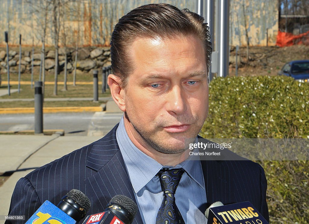 Actor <a gi-track='captionPersonalityLinkClicked' href=/galleries/search?phrase=Stephen+Baldwin&family=editorial&specificpeople=213776 ng-click='$event.stopPropagation()'>Stephen Baldwin</a> addresses the media after pleading guilty to a charge of repeated failure to file income taxes at Rockland County Courthouse on March 29, 2013 in New City, New York. Baldwin, a contestant on 'All-Star Celebrity Apprentice', was accused of failing to file income tax returns from 2008-2010 and faced up to four years in prison.